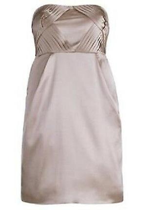 Коктейльное нюдовое платье vila clothes