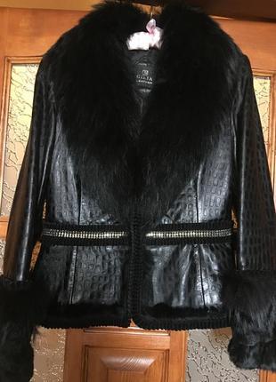 Куртка кожаная gizia деми, р.42(48)