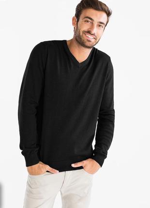 Мужской хлопковый джемпер c&a р. s. идеальное состояние! пуловер, кофта, свитер