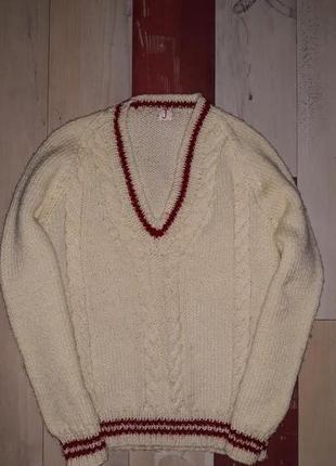 Стильный вязаный свитер на 5-7 лет