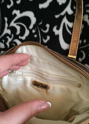 Модая золотая сумка от suzy smith!3 фото