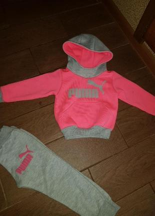Спортивный утепленный костюм puma детский 1-2 года