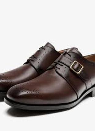 Кожаные туфли ,полу ботинки massimo dutti