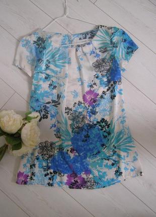Атласная блуза с цветами от wallis 8-размер