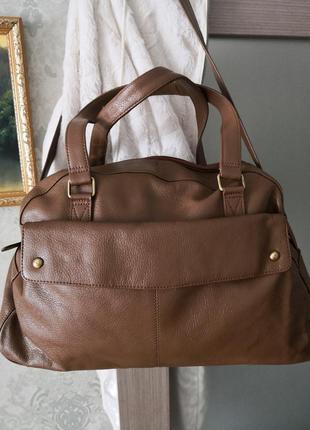 Большая кожаная сумка victoria jayne
