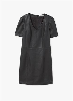 Мини кожаное платье под кожу платье мини футболка платье короткое