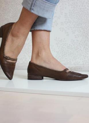 Кожаные туфли лоферы, бренд lavorazione artigianale