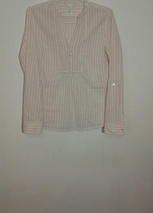 100% хлопковая рубашка  marks&spencer в полосочку