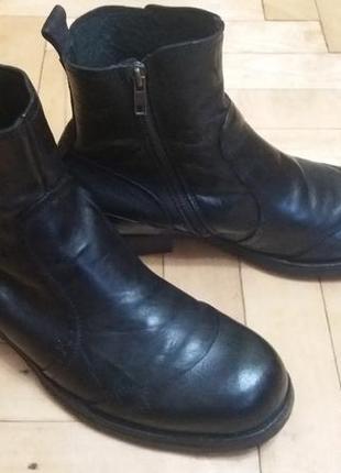 Кожаные ботинки,черевики,челси от emblem(40р-27.5см)