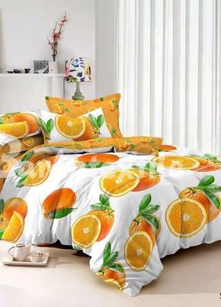 Постельное белье из сатина апельсин