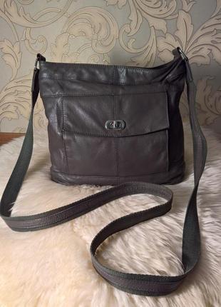Кожаная сумка через плечо taurus.