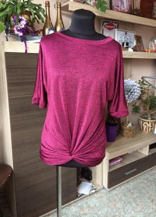 Яркая розовая футболка с блеском