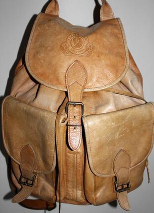 Мужской  кожаный рюкзак fjallraven original