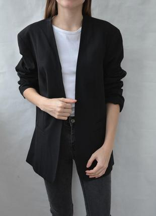 Пиджак 🌟акція🌟1+1=3!!жакет чёрный базовый new look піджак жакет базовий