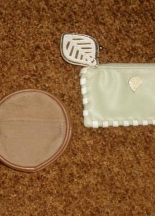 Комплект 2 кожаные маленькие кошельки для мелочи