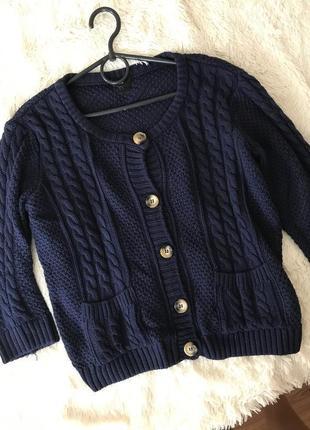 Стильный темно-синий свитер от h&m размер s m
