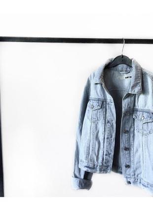 Голубая джинсовая куртка от топшоп мото