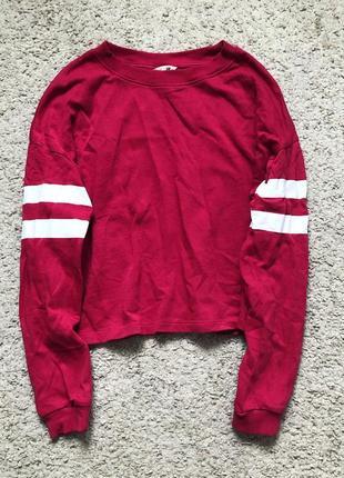 Крутая красная кофта h&m