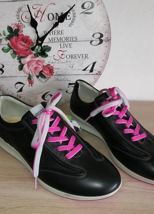 Кожаные водонепроницаемые кроссовки ecco hydromax, 42 размер