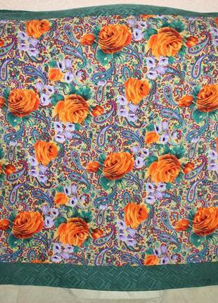 Винтажный шелковый платок сhar lotte роуль