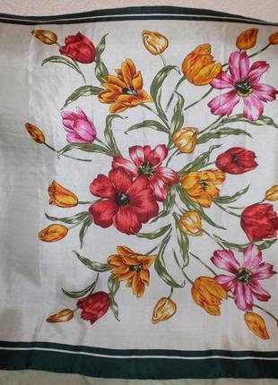 Роскошный легкий шелковый платок роуль