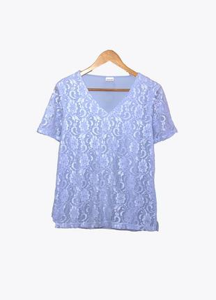 Damart/ нарядная кружевная футболка uk14/16