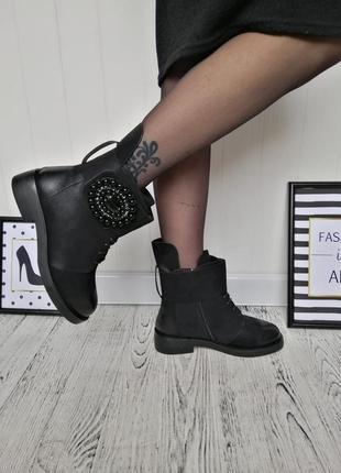 Стильные ботинки сапоги полусапожки