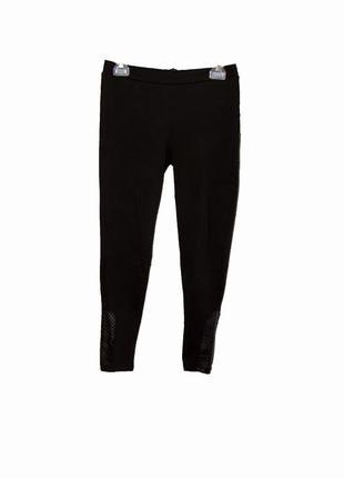 Школьные штаны-лосины, брюки с кожанными вставками 12-13 лет