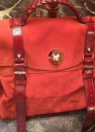 Крутая брендовая кожаная сумка mulberry