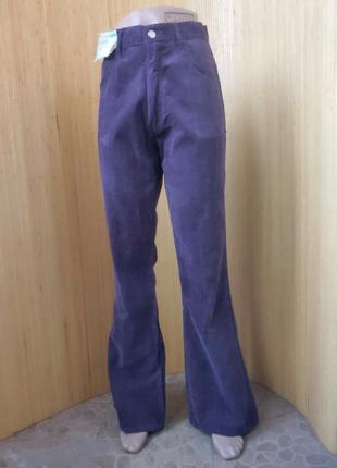 Велюровые брюки высокая посадка foster