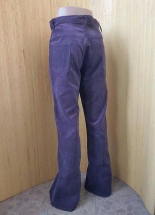 Велюровые брюки высокая посадка foster3