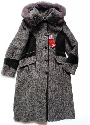 Новое зимнее пальто nui very. шерсть.