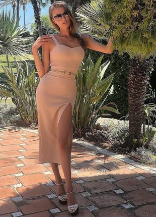 Шикарное сексуальное гусарское платье футляр макси нюд беж herve leger4 фото