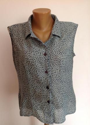 Итальянская вискозная блузка. /l/ brend alba fornari