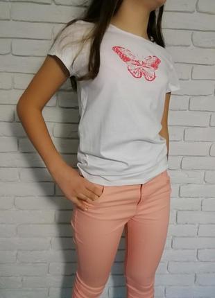 Очень красивые брюки капри супер скинни для девочки