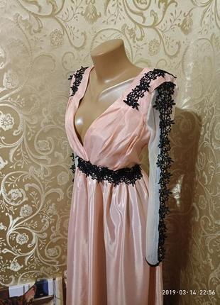 Нежное пудровое платье бюстье с кружевом для фотосесий на большую грудь💃🌸