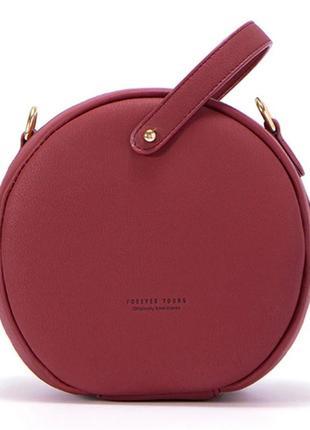 69f3e2d67664 Сумочка женская круглая. сумка круглой формы цвета марсала, винная