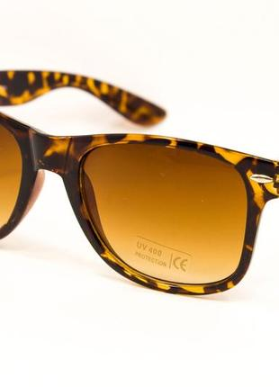 Очки. солнцезащитные очки. очки в стиле ray ban wayfarer. 1028-45. леопардовые очки