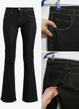 Серые красивые джинсы клеш от benetton,31 р-р