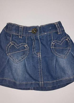 Классная джинсовая юбочка на малышку 3-6 мес.,next,сток