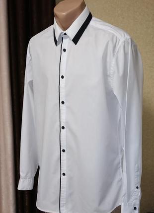 96a57f11661 Белые мужские рубашки 2019 - купить недорого мужские вещи в интернет ...