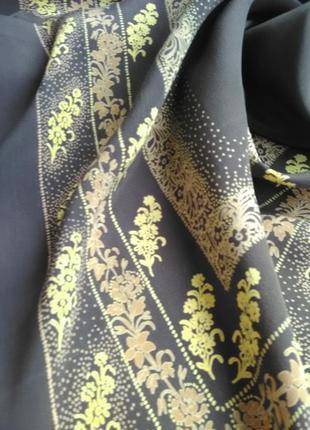 Шикарный саржевый платок шоколадного цвета