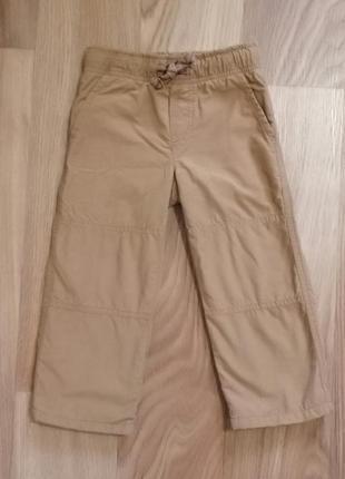 Рыжие котоновые брюки на флисе gymboree