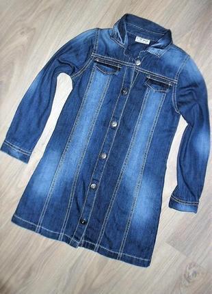 Джинсовое платье - рубашка на 6лет