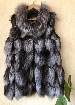Жилетка из чорнобурки