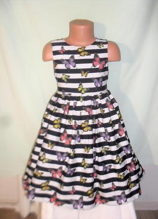 Платье в бабочки на 5-6лет