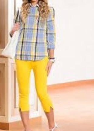 Укороченные брюки 🍋 лимонного цвета escada
