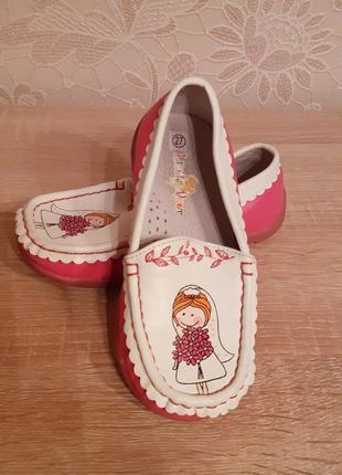 Красивые туфельки мокасины для вашей принцески.