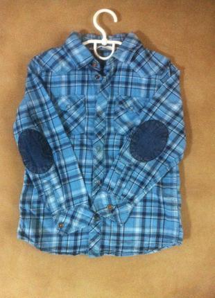 Рубашка на кнопках н&м 4-6 лет
