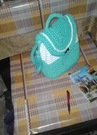 Сумочки вязаные из трикотажной нити